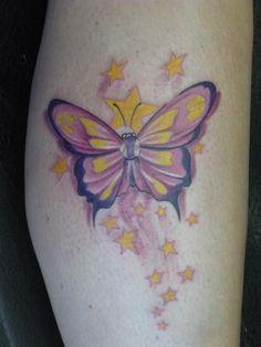 by Valio Ska Butterfly Tattoos, Watercolor Tattoo, Tatting, Creative, Ideas, Ska, Bobbin Lace, Needle Tatting, Thoughts