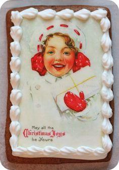 Edible Ink Image Christmas Cookies | Sweetopia