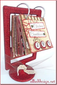 """Christmas countdown advent flip frame (Ikea).  Could see adding a family event/discussion topic/advent Bible passage each day.  Also great idea to make a calendar this way!  Maybe even the """"next birthday is..."""" calendar idea elsewhere on Pinterest"""