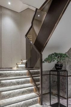 New stairs design luxury decor 48 Ideas Home Stairs Design, Interior Staircase, Staircase Railings, Railing Design, Modern House Design, Home Design, Home Interior Design, Staircase Ideas, Staircases