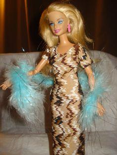 Barbie Doll Separates  Teal blue and silver by KelleysKreationsLV, $5.95