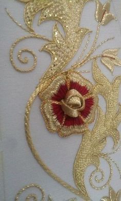 Gold threadwork