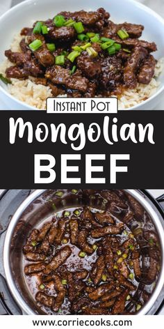 I think I already told you about my preference for Asian foods. In short, I love the mixture of flavors and textures, and I love the diverse and unique combinations of meat, sauces, and veggies!    Why do we call it Mongolian? I guess no one knows for sure. Regardless, it's delicious and it will stay in my recipe book for years to come! Best Pressure Cooker Recipes, Instant Pot Pressure Cooker, Slow Cooker, Vegan Recipes Easy, Asian Recipes, Mongolian Beef Recipes, Potted Beef Recipe, Roast Beef Recipes, Best Instant Pot Recipe