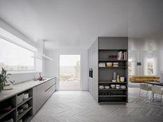 - Lacquered wood veneer kitchen VELVET PROFILE I - GD Arredamenti