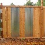 Chic Corrugated Iron Fence