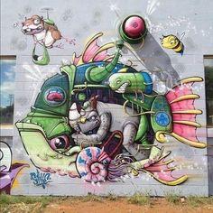 Amazing Street Art - Mr Pilgrim Graffiti Art / More on www.mrpilgrim.co.uk