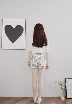 floral shorts | korean fashion