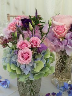 hydrangea and roses - love the color combo in this.