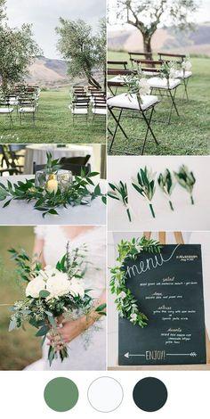 simple and stylish white greenery wedding ideas