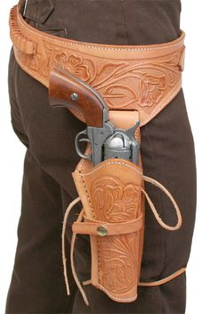 Historical Emporium Men's Right Hand Tooled Leather Western Gun Belt and Holster cal 36 Brown Cowboy Holsters, Gun Holster, Leather Holster, Leather Tooling, Tooled Leather, Cowboy Action Shooting, Rifles, The Lone Ranger, Cowboys And Indians