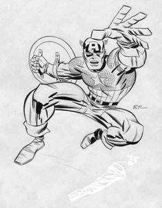 Bruce Timm // Captain America