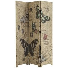 Butterfly Room Divider-would be a great way to add privacy to the guest wing.