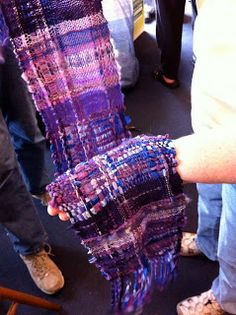 CENTERING WITH FIBER: Saori weaving class with rigid heddle looms