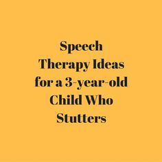 In this video, speech-language pathologist Carrie Clark will talk about some ideas that you can use in speech therapy for a preschooler who stutters.   Indirect Therapy:   Identify fast vs. slow speech from the therapist  Practice using fast and slow speech for the child  Practice slow, smooth, exaggerated speech  Direct Therapy
