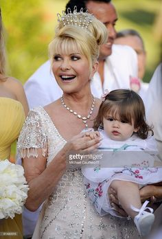 RATES - Ivana Trump and Kai Trump during the wedding of Ivana Trump and Rossano Rubicondi at the Mar-a-Lago Club on April 12, 2008 in Palm Beach, Florida. Ivana Trumps jewelry is by Leviev, a diamond bracelet, earrings and necklace totaling 150 carats. Her hair is by Clifford and her make-up by Pablo Rodriguez.