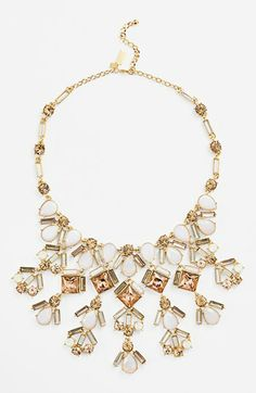 kate spade new york 'baguette bridal' stone bib necklace available at #Nordstrom