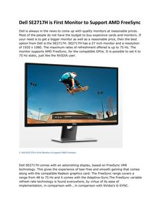 Dell SE2717H comes with an astonishing display, based on FreeSync VRR…