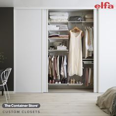 Find more space than you ever thought possible with Elfa! Contact us today for a free custom design. (Shown: Elfa Classic in White)