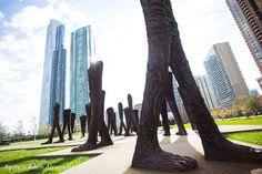 Public Art: Agora in Grant Park, Chicago