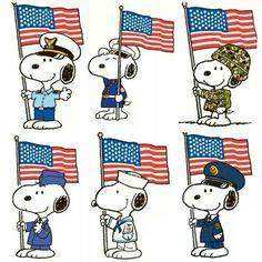 Patriotic Snoopy