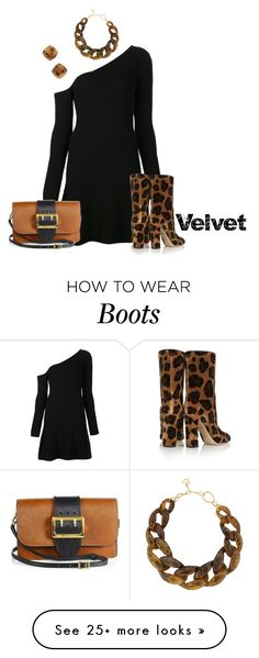 """""""Purr-fect Velvet Boots"""" by lovetodrinktea on Polyvore featuring Jonathan Simkhai, Dolce&Gabbana, Burberry, DIANA BROUSSARD and Kate Spade"""