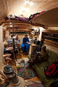 inspiration - beautiful interior. sprinter van