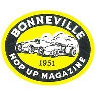 Bonneville 1951 Hop Up Magazine Decal, Hot Rod and Custom, Nostalgia drag racing
