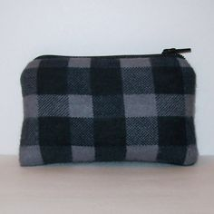 Padded Pipe Pouch Plaid Pouch Pipe Case Glass Pipe Bag by PouchAPalooza.com