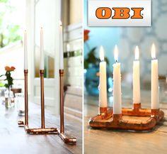 DIY: Kupfer-Kerzenhalter von OBI #Selbstbauanleitung