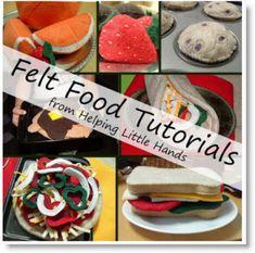 Felt Food Tutorials ♥ http://felting.craftgossip.com/2013/07/11/felt-food-tutorials/