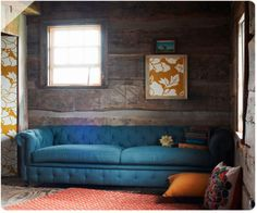 I know this is a cabin wall, but I like the Anthropologie interior look.