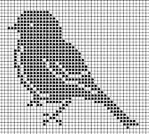 Cross stitch chart bird