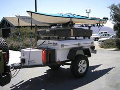 Adventure Trailers | The rear is supported by a Thule Goalpost on a hitch extension.