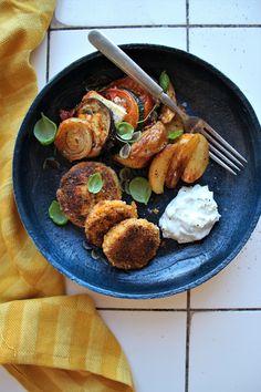 Falafler med tzatziki, ratatouille & ovnkartofler