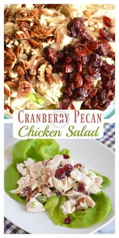 cranberry pecan chicken salad is a perfect holiday lunch that's not onl. - Salat -Homemade cranberry pecan chicken salad is a perfect holiday lunch that's not onl. Pecan Chicken Salads, Chicken Salad Recipes, Healthy Salad Recipes, Salad Chicken, Recipe For Cranberry Chicken Salad, Southern Chicken Salads, Homemade Chicken Salads, Greek Yogurt Chicken Salad, Greek Salad