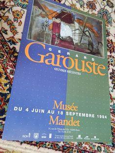 french poster. AFFICHE exposition GAROUSTE par vintagemadeinFRANCE