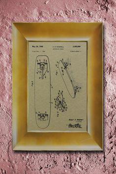 Adam's room - Skateboard 1968 Wall Art Poster