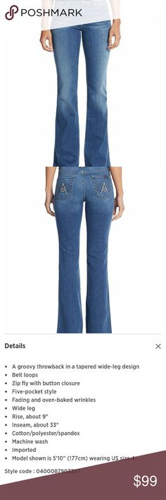 """NWT 7 For All Mankind jeans sz 26 New with tags  Details in picture 3 Waist 26"""" Inseam 33"""" 7 For All Mankind Jeans"""
