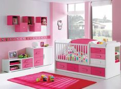 that has to be the coolest crib and storage combo I've ever seen! Love it,and the mix of colors is cute too!