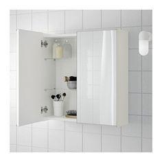 LILLÅNGEN Szafka z lustrem i parą drzwi - biały - IKEA