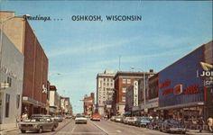 Greetings from Oshkosh! Oshkosh Wisconsin, Vintage Postcards, Old School, Road Trip, Street View, Explore, History, Vintage Travel Postcards, Historia