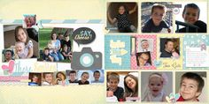 Smiles layout using our Spring Blossoms Collection and Snapshots Digital Stickers