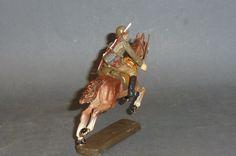 Alter Elastolin Soldat mit beweglichem Arm auf fliegendem Pferd 7cm   eBay
