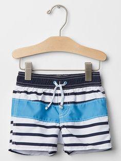 Multi--stripe swim trunks | Gap