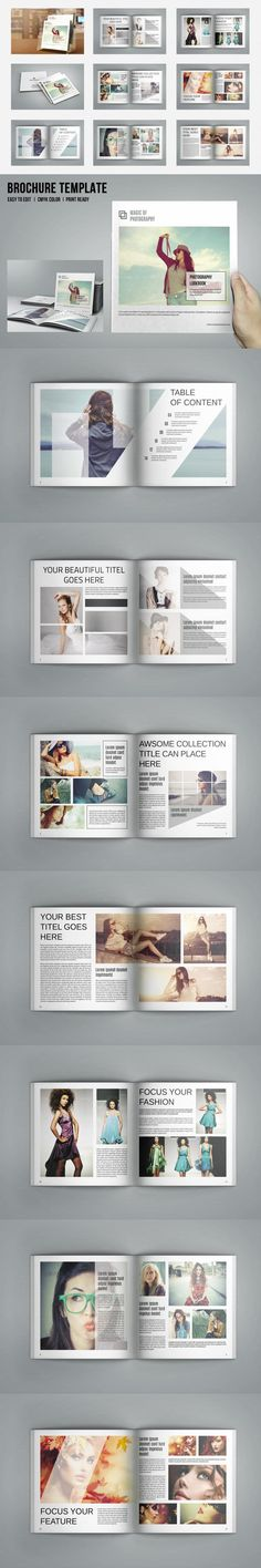 #magazine #design from Template Shop | DOWNLOAD: https://creativemarket.com/sismic/653967-Square-Fashion-Magazine-V479?u=zsoltczigler