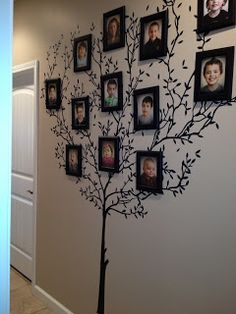 Visiting Teaching Tips, Handouts and Ideas a tree  on the wall...then pictures of family