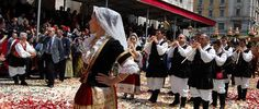 Parade of regional costumes for S. Efisio festival