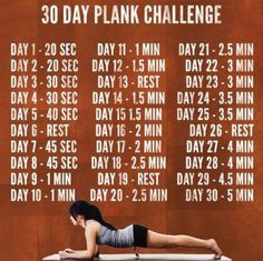 30 Day Plank Challenge - let's see how long I can hold this! uffda