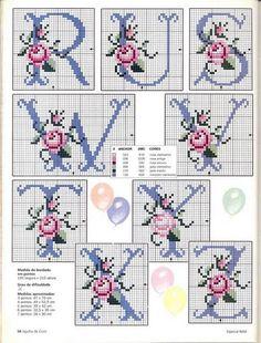 Rose Alphabet cross stitch