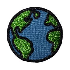Peace on Earth! The Earth hipstapatch™ is an embroidered fabric patch that measures approximately x with a peel-and-stick adhesive backing. Stick it on your shoes, hat, backpack, cellphone case, earth day Cute Patches, Diy Patches, Pin And Patches, Iron On Patches, Backpack With Patches, Jacket Patches, Bag Pins, Vintage Patches, Fabric Patch
